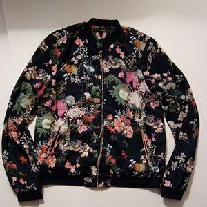 Zara TF Outerwear Floral Bomber Jacket